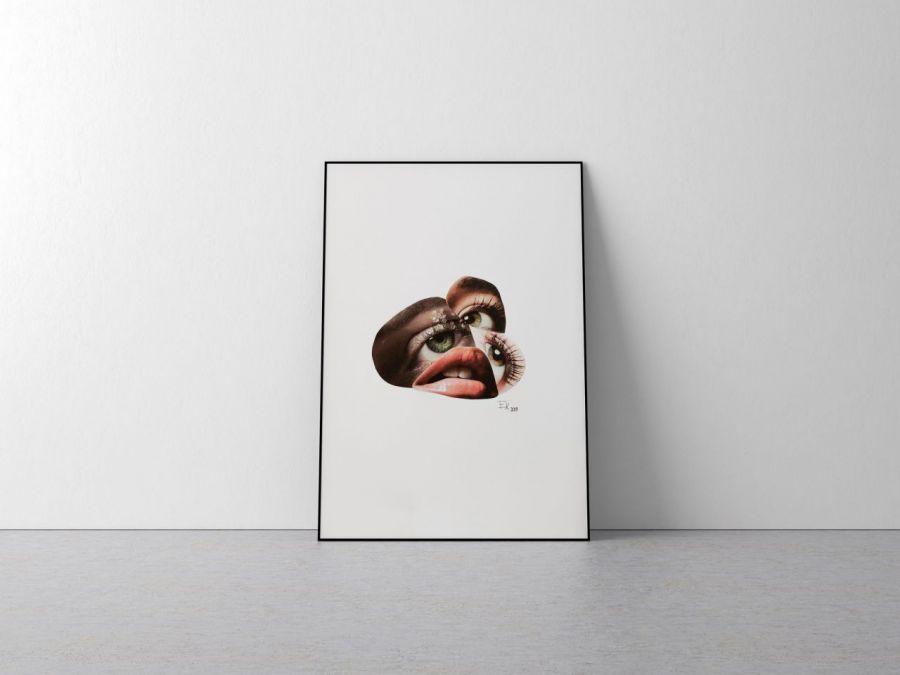 Plakat oko twarz A4 21x29,7 cm
