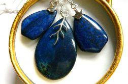 Lapis lazuli i srebro, wisior i kolczyki