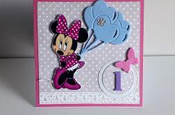 Kartka na Urodziny ręcznie robiona Minnie
