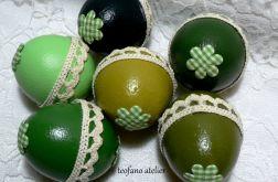 Wydmuszki z cukierkami - zielone