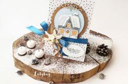 Zimowy domek - kartka świąteczna