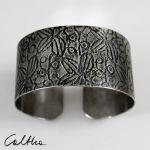 Metalowa bransoleta - liście 171029-02 - Metalowa bransoleta
