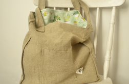 Lniana torba z podszewką w rośliny doniczkowe
