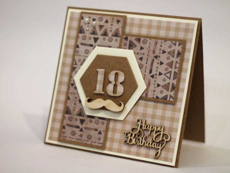Kartka na 18. urodziny do koperty