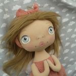 ANIOŁEK lalka - dekoracja tekstylna, OOAK/24 - mam opaskę na włosach