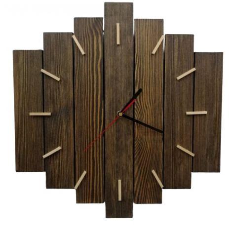 Zegar ścienny drewniany duży