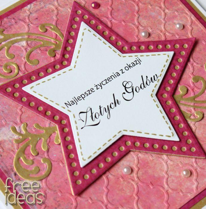 Kartka z okazji 50 rocznicy ślubu - Złote