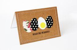 Czarne jajka w białe kropki kartka
