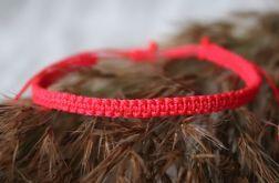 Czerwona bransoletka pleciona Relva
