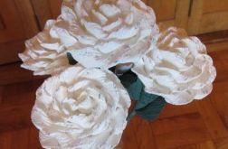 Bukiet białych róż