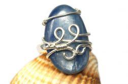 Kyanit, Srebrny pierścionek z kyanitem