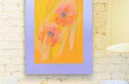 Rysunek kwiaty na fioletowym tle nr 18 szkic