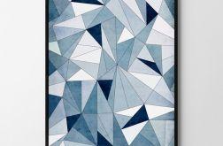 Plakat abstrakcja trójkąty 50X70 B2