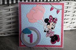 Kartka na Roczek urodziny jedynka Minnie