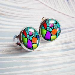 Painted stones - delikatne małe klipsy