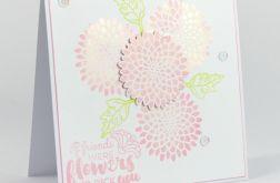 Kartka urodzinowa kwiaty - friends