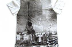 Koszulka  z widokiem Paryża - rozmiar L