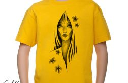 Kwiaty - t-shirt 2-14 lat (różne kolory)
