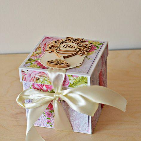 Kartka box dla dziewczynki Komunia