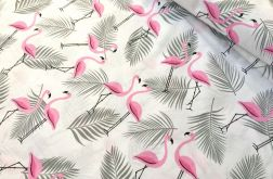Tkanina bawełna-flamingi