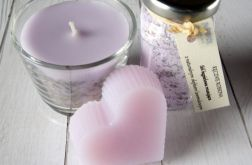 Upominek prezent lawenda - mydło świeca