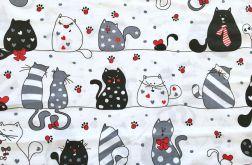 Tkanina bawełna wesołe koty
