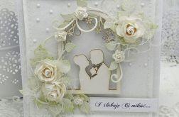 Romantyczna altanka- kartka ślubna