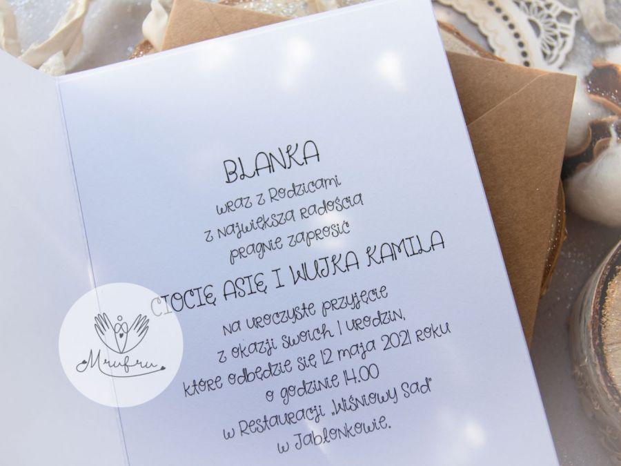 Zaproszenie na roczek, urodziny /24 - Przykładowa treść