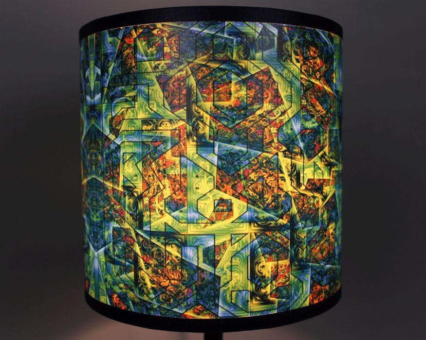 Ciemnozielona lampa stojąca sEN kOSIARZA 6 S
