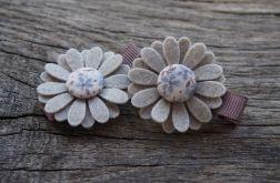Spinki do włosów kwiatki BLUE1