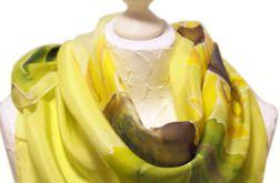 Chusta jedwabna ręcznie malowana - Słoneczniki