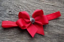 Opaska z kokardką  czerwona CHRISTMAS