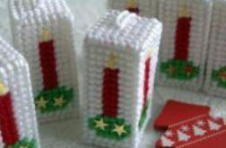 Świeczki 3D- komplet na choinkę (białe)