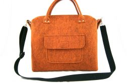 Straight orange-melange bag