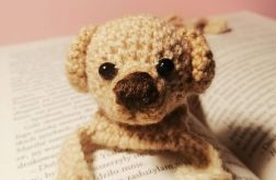 Zakładka do książki - Szydełkowa - Pies