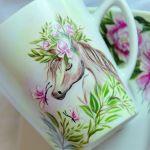Kubek ręcznie malowany - bajkowy konik -