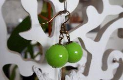 Kolczyki handmade jasnozielone