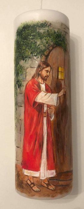 świeca malowana ręcznie-I Komunia Święta