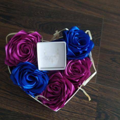 Box kwiatowy z pudełeczkiem na biżuterię