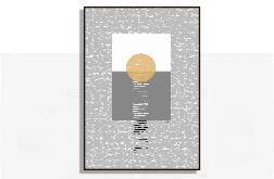 Słońce, grafika autorska, nowoczesna abstrakcja