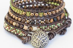 Bransoletka boho Green and Brown