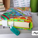Otulacz / etui na książkę ~ pastelowe mehndi -