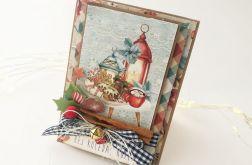 Cynamon i pierniki - kartka świąteczna