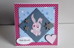 Kartka na Roczek króliczek królik