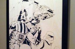 Drewniany obraz Gwiezdne wojny