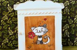 Szafka na klucze - Zakochany kotek