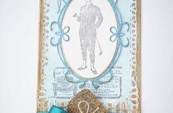 Kartka dla mężczyzny na urodziny, imieniny niebieska