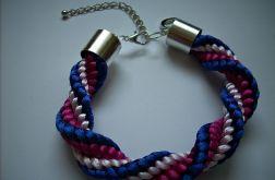 Bransoletka niebiesko-różowa