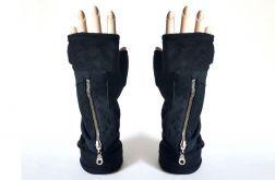 Rękawiczki czarne polarowe z kieszeniami
