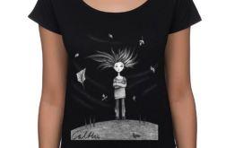 Wietrzna - koszulka oversize - czarna